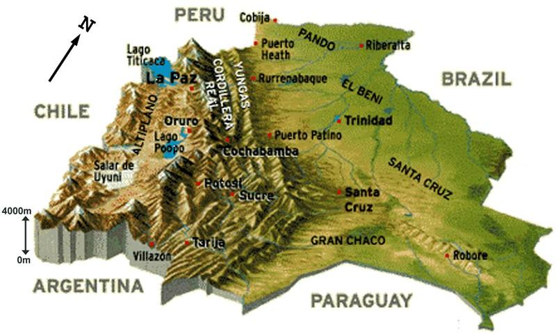 Bolivie-Reliefs