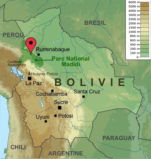 Carte-Bolivie-Trek-Madidi