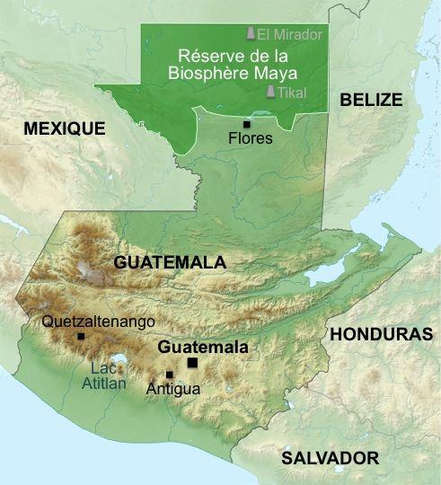 Carte-Guatemala-Biosphere-Maya