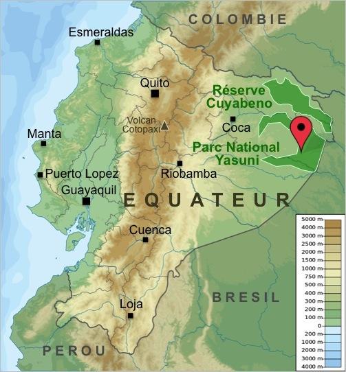 Carte-Equateur-Trek-Yasuni