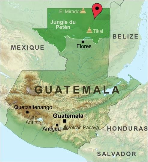 Carte-Guatemala-Trek-Maya
