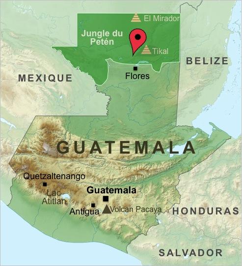 Carte-Guatemala-Trek-Tikal